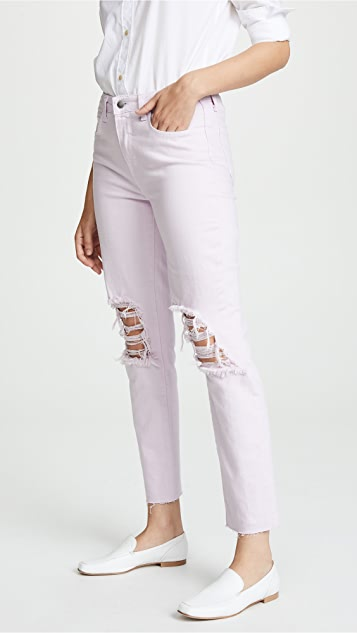 L'AGENCE Luna High Rise Straight Jeans