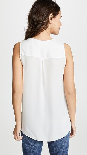 L'AGENCE Блуза Mila без рукавов с драпировкой