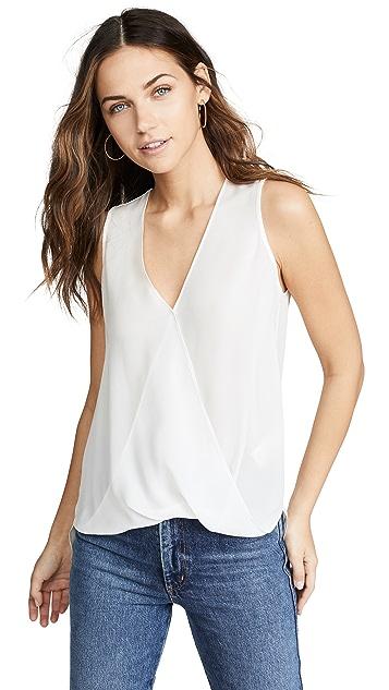L'AGENCE Mila 垂褶无袖女式衬衫