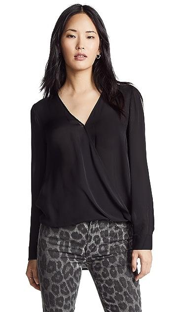 L'AGENCE Шелковая блуза с драпировкой Kyla