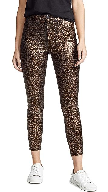 L'AGENCE Margot High Rise Foil Skinny Jeans