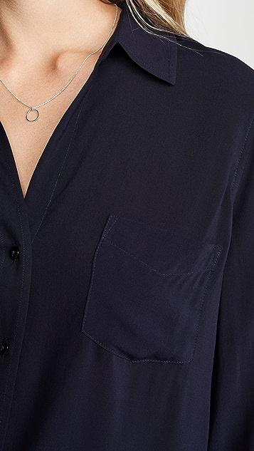 L'AGENCE Ryan 3/4 Sleeve Blouse