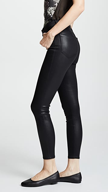 L'AGENCE Margot Coated Skinny Jeans