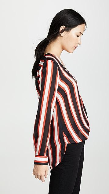 L'AGENCE Kyla 垂褶女式衬衫