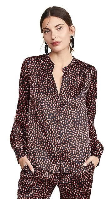 L'AGENCE Блуза Bardot с окантованным воротником