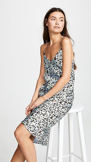 L'AGENCE Jodie V Neck Silk Slip Dress