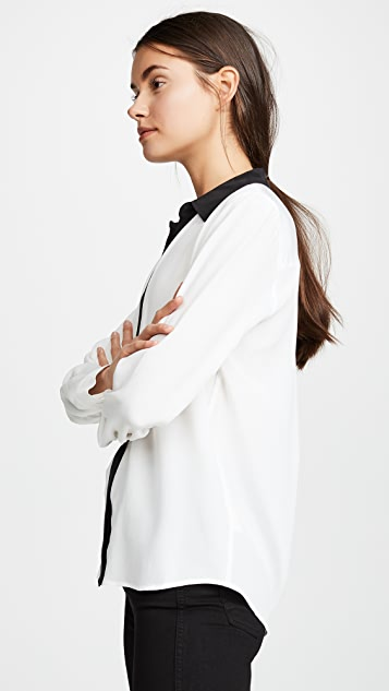 L'AGENCE Maxwell Long Sleeve Blouse