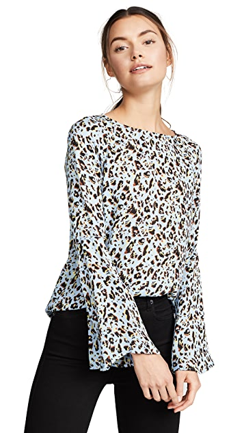 L'AGENCE Dylan Wide Bell Sleeve Blouse