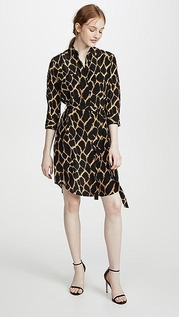 L'AGENCE Короткое платье-рубашка Stella