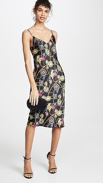 L'AGENCE Платье-комбинация Jodie с V-образным вырезом
