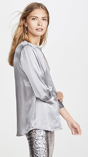 L'AGENCE Aoki 立领女式衬衫