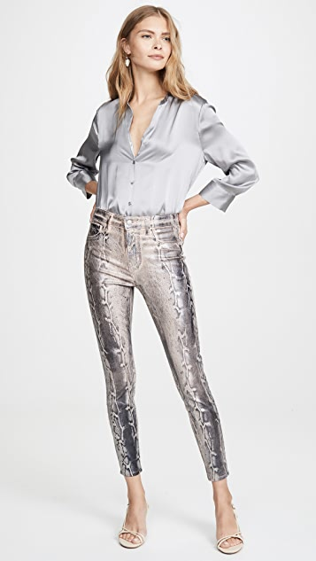 L'AGENCE Margot 高腰紧身牛仔裤