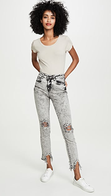 L'AGENCE Cory Scoop Neck Tee