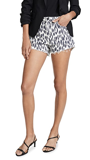 L'AGENCE Ryland High Rise Leopard Shorts