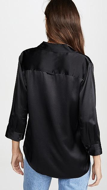 L'AGENCE Укороченная блуза Dani