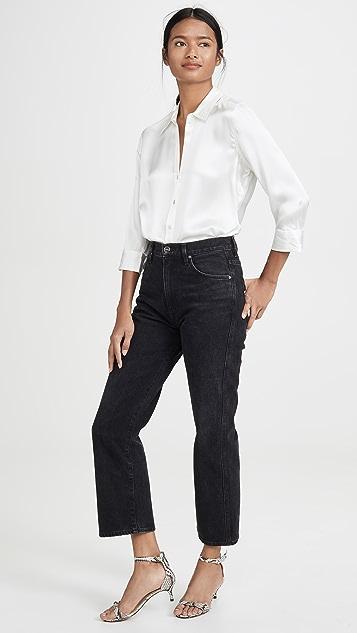 L'AGENCE Dani 短款女式衬衫