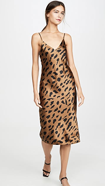 L'AGENCE Jodie V Neck Slip Dress