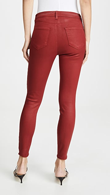 L'AGENCE Margot Coated High Rise Skinny Jeans