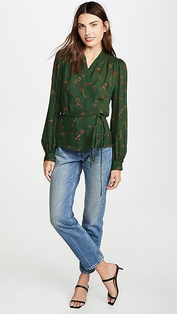L'AGENCE Блуза с запахом Cara