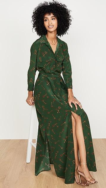 L'AGENCE Длинное платье-рубашка Cameron