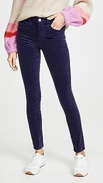 Marguerite Velvet High Rise Skinny Jeans