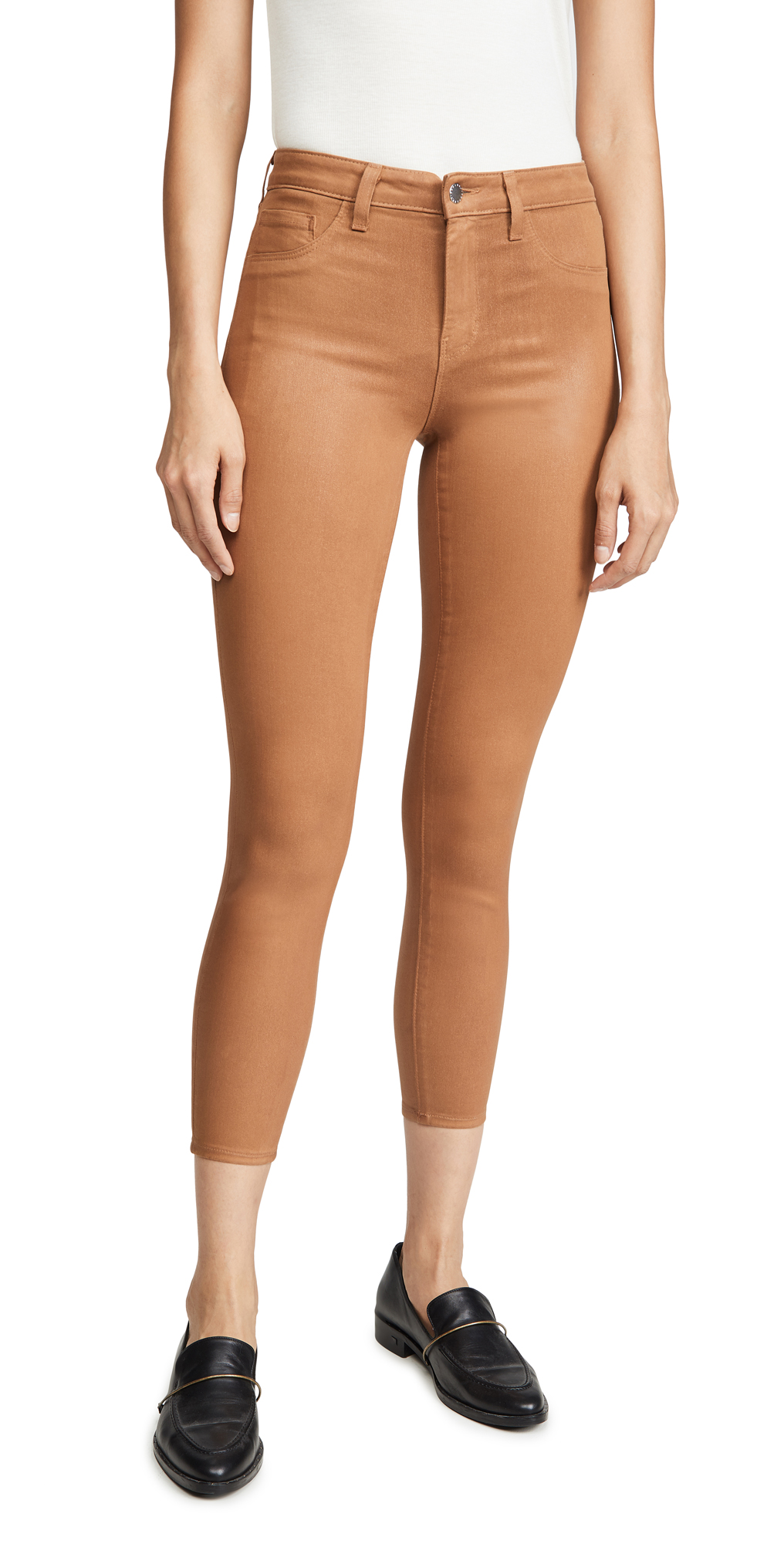 L'AGENCE Margot Skinny Coated Jeans