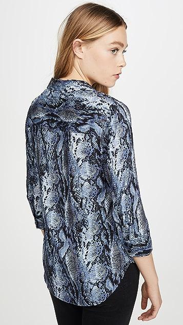 L'AGENCE Блуза Ryan с рукавами три четверти