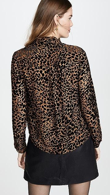L'AGENCE Блуза Lydia с драпировкой спереди