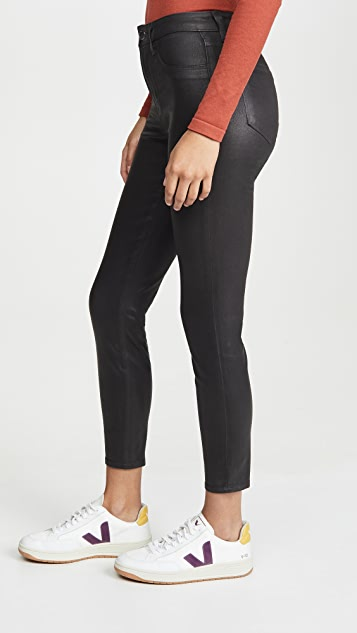 L'AGENCE Margot High Rise Coated Skinny Jeans