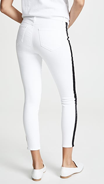 L'AGENCE Margot High Rise Skinny Jeans with Tux Stripe