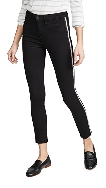 L'AGENCE Margot High Rise Skinny Jeans with Taping
