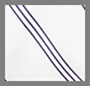 Ivory/Navy Pinstripe