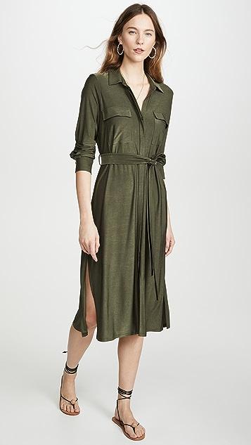 L'AGENCE Длинное платье-рубашка Rivi