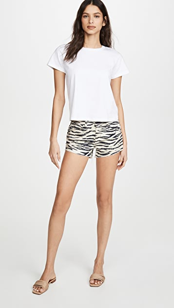 L'AGENCE Audrey Mid Rise Wildcat Shorts