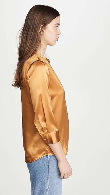 L'AGENCE Aoki 七分袖女式衬衫