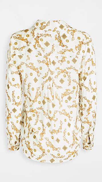 L'AGENCE Holly Long Sleeve Blouse