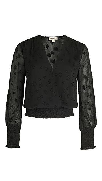 L'AGENCE Dulce Cross Front Blouse with Smock