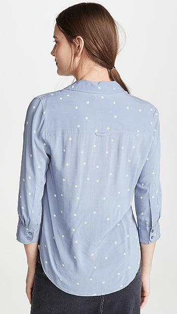 L'AGENCE Ryan 七分袖女式衬衫
