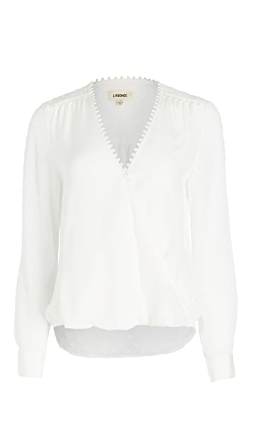 L'AGENCE Perry Fabric Blocked Blouse
