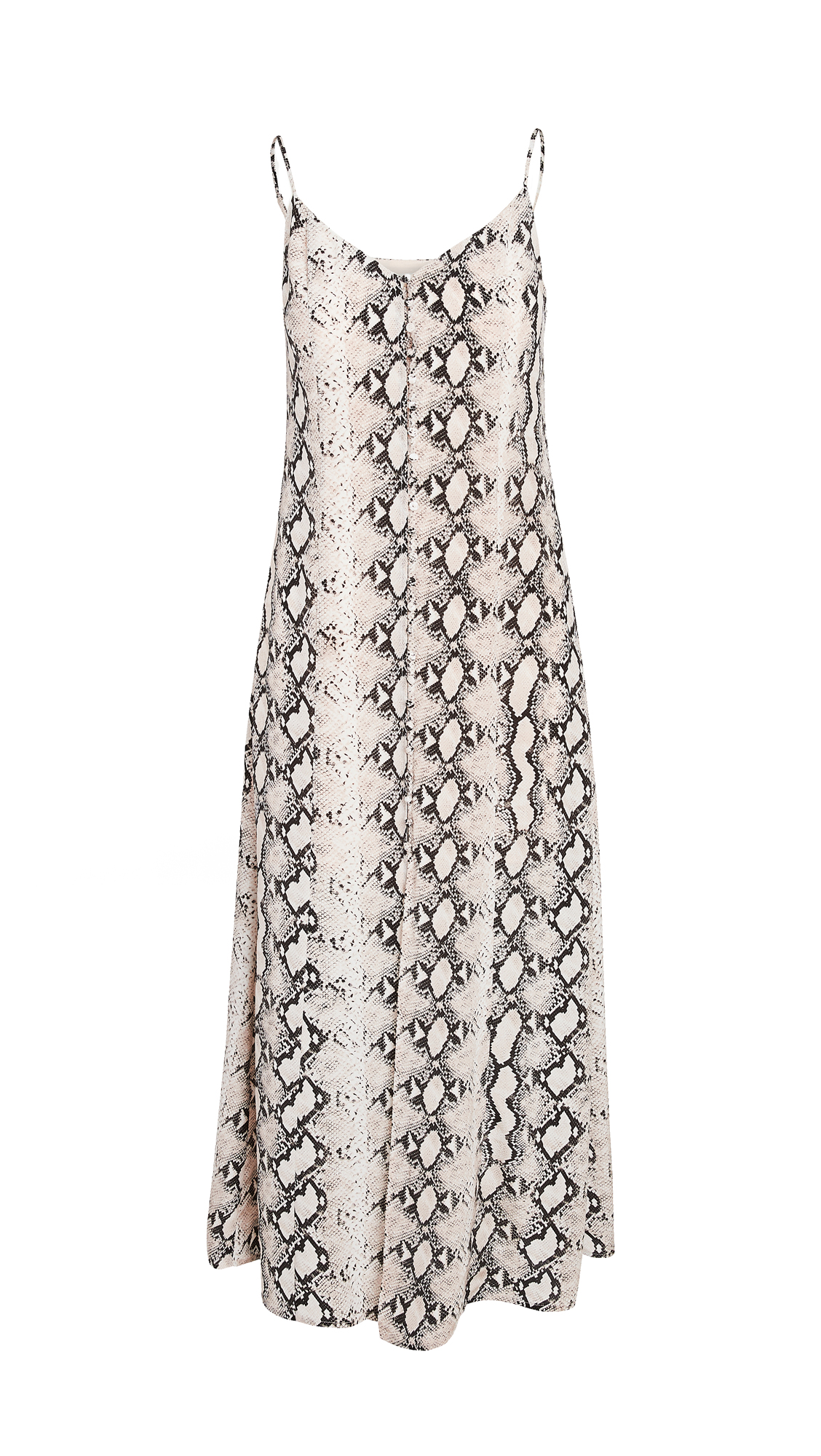 L'AGENCE Romee Button Maxi Dress