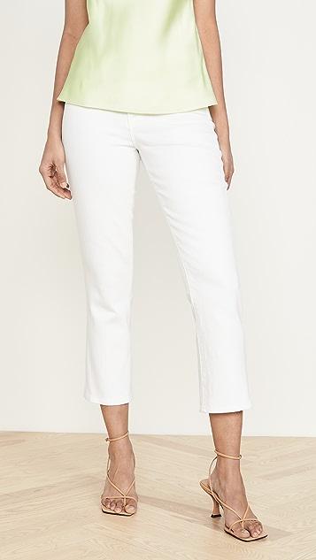 L'AGENCE Прямые укороченные джинсы Nadia с высокой посадкой