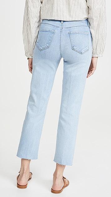 L'AGENCE Sada 高腰中长修身牛仔裤