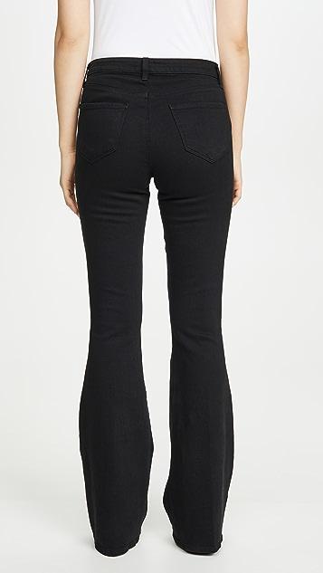 L'AGENCE 高腰喇叭牛仔裤