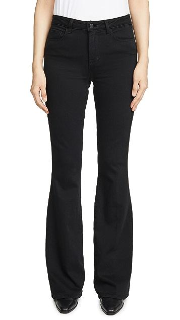 L'AGENCE Расклешенные джинсы с высокой посадкой