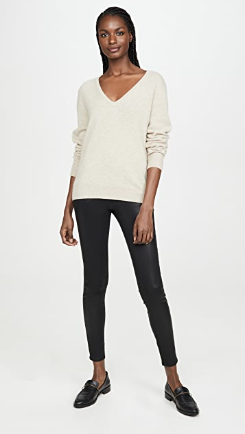 L'AGENCE Rochelle Coated Pull On Jeans