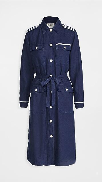 L'AGENCE Kinsley 织带长款外套