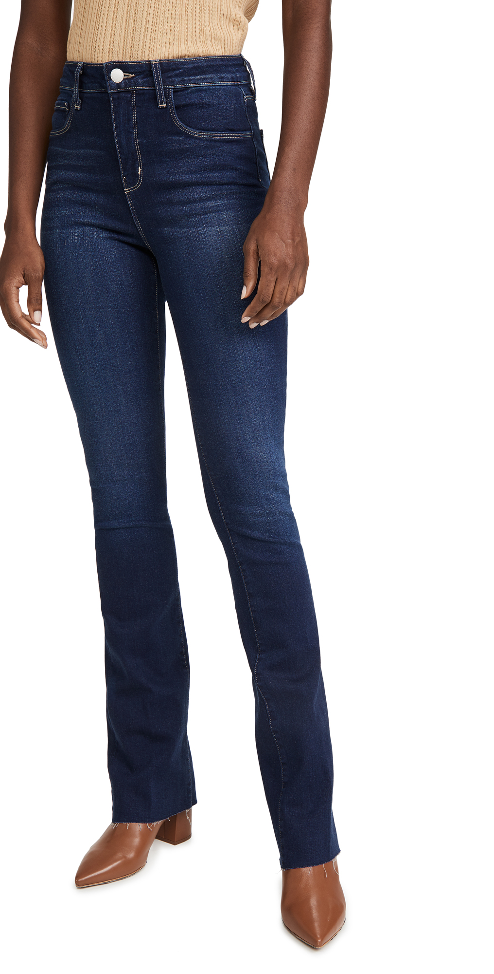 L'AGENCE Ruth High Rise Straight Jeans