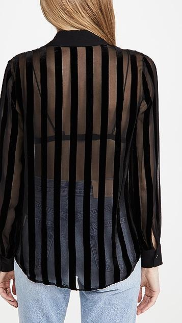 L'AGENCE Hailie 长袖女式衬衫