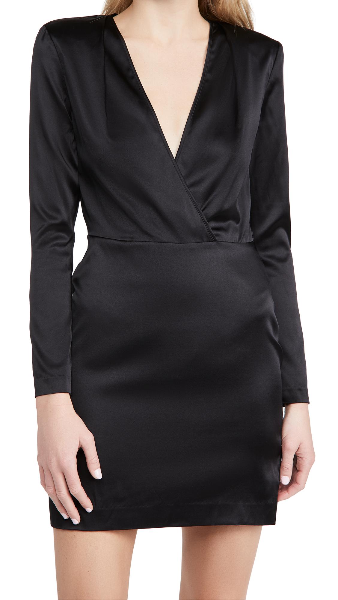 L'AGENCE Kailyn Deep V Dress