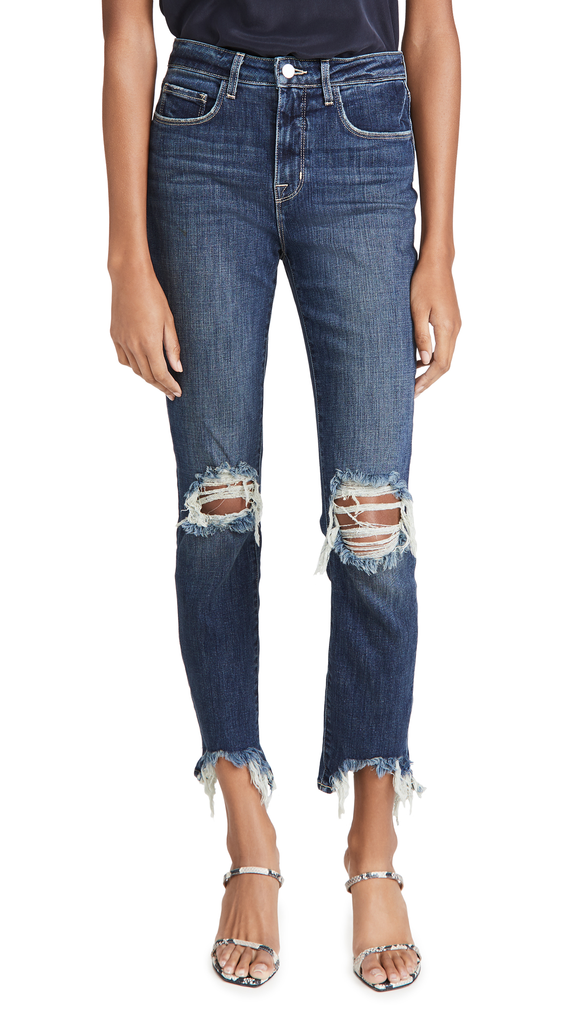 L'AGENCE High Line High Rise Skinny Destroy Jeans